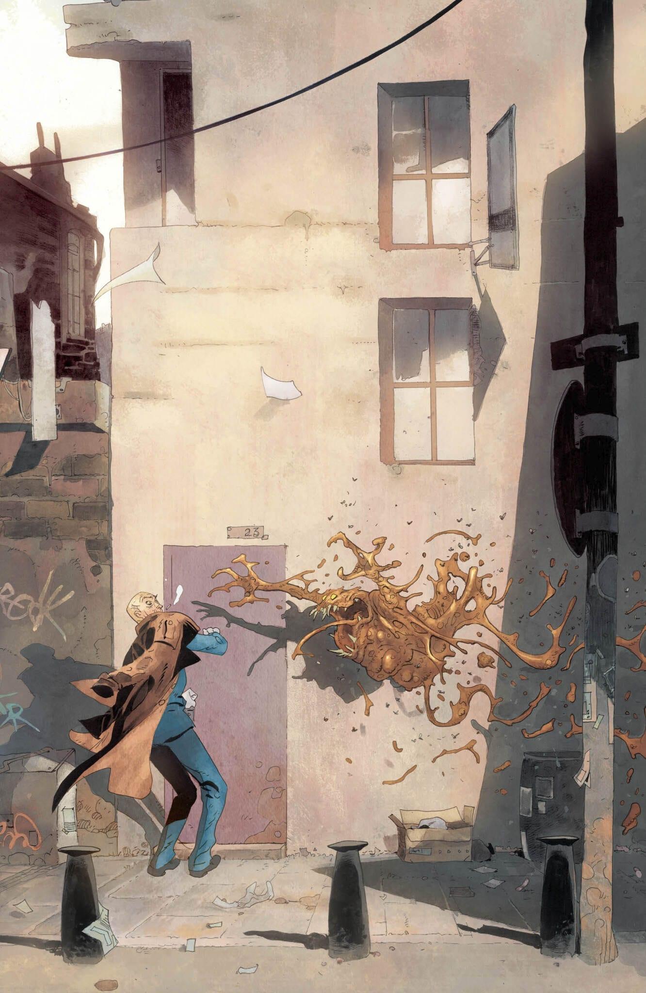 Hellblazer #4 even has turd monsters!