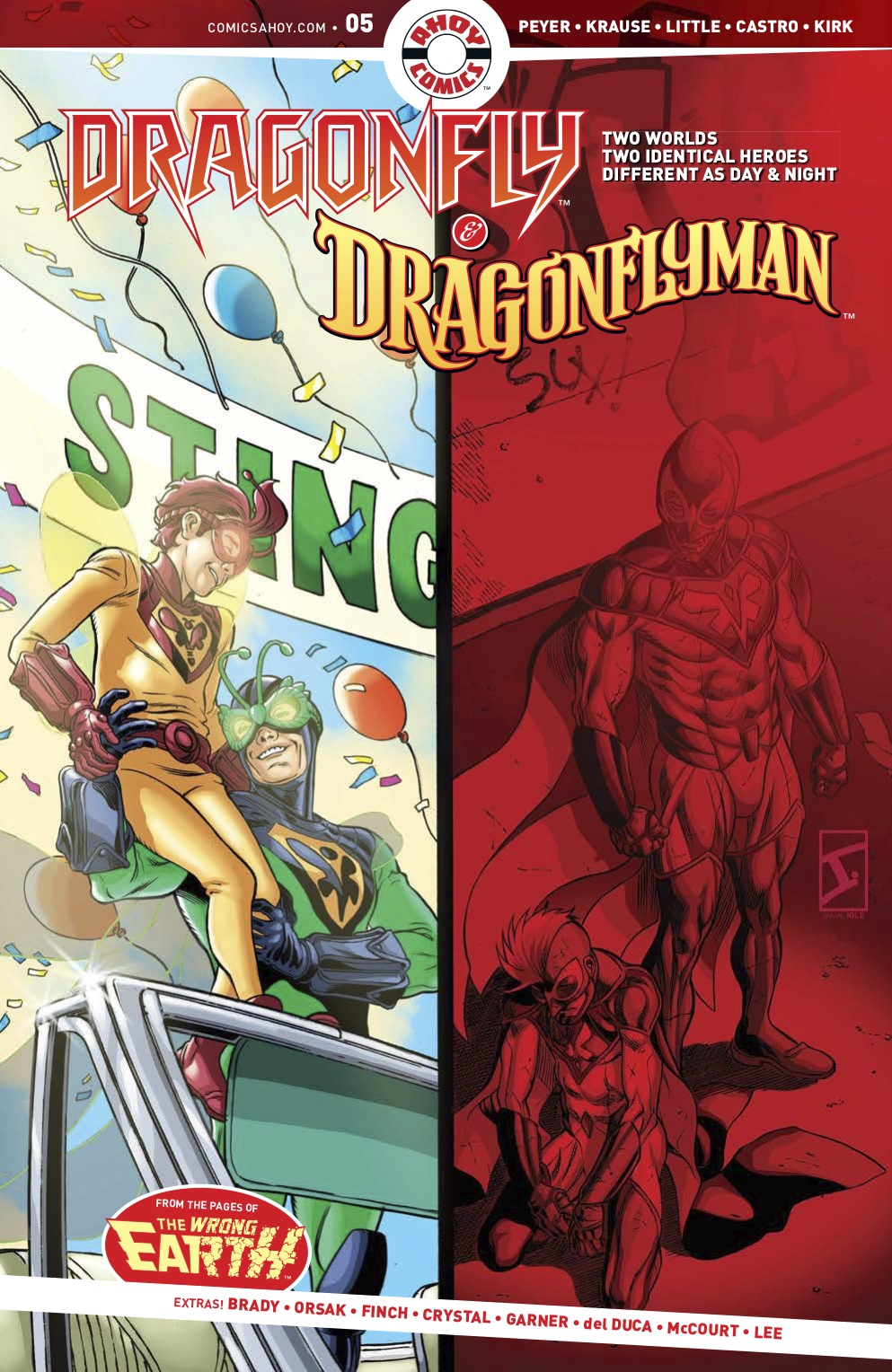 DRAGONFLY AND DRAGONFLYMAN #5 exclusive preview ahoy comics comic books