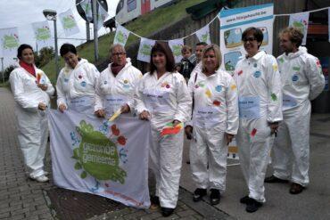 Groep schepenen bij de actie voor Geestelijke gezondheid.