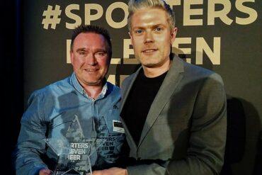 Steven Vekeman neemt sportersbelevenmeer award in ontvangst