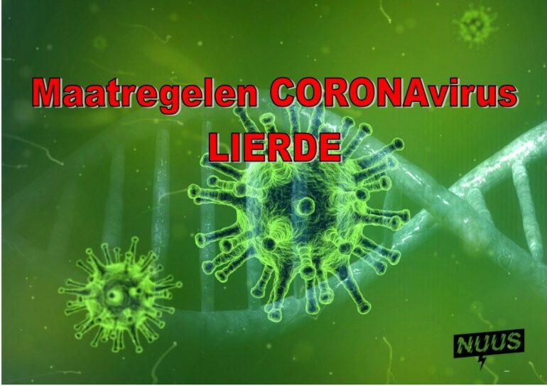 maatregelen Coronavirus - gratis mondmaskers te Lierde