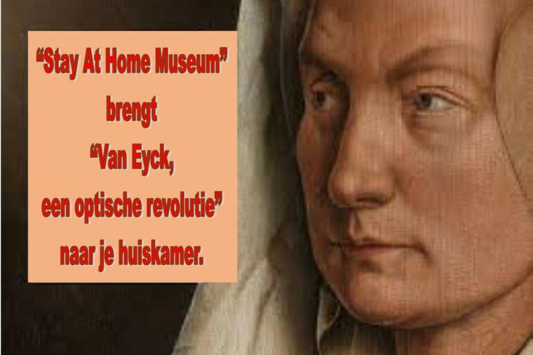 Aankondiging virtueel museumbezoek.