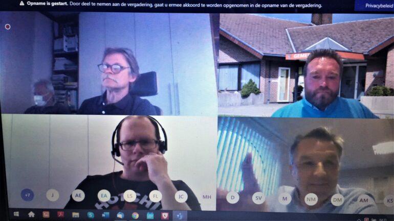 Deelnemers virtuele gemeenteraad Lierde