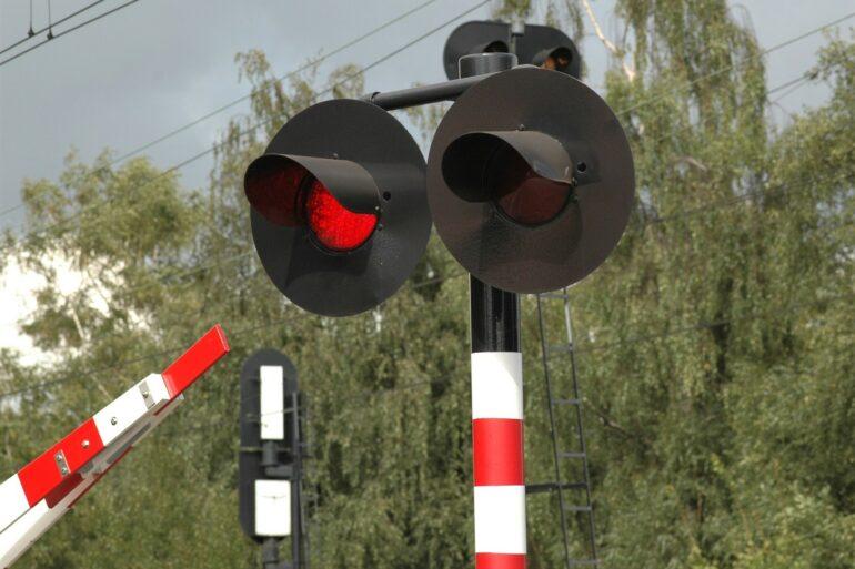 Signalisatielichten spoorwegovergang