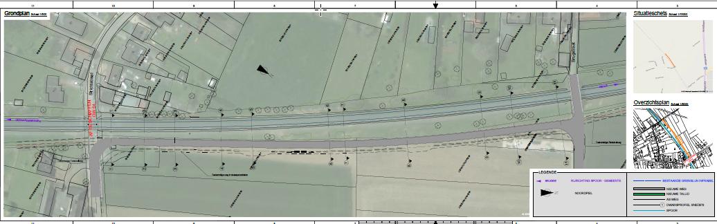plan spoorwegovergang Lierde