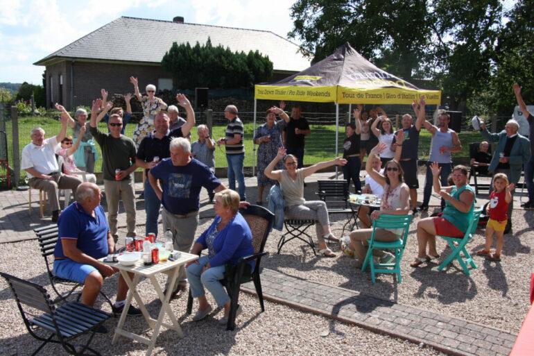 MIG feestje in de Bergstraat te Lierde