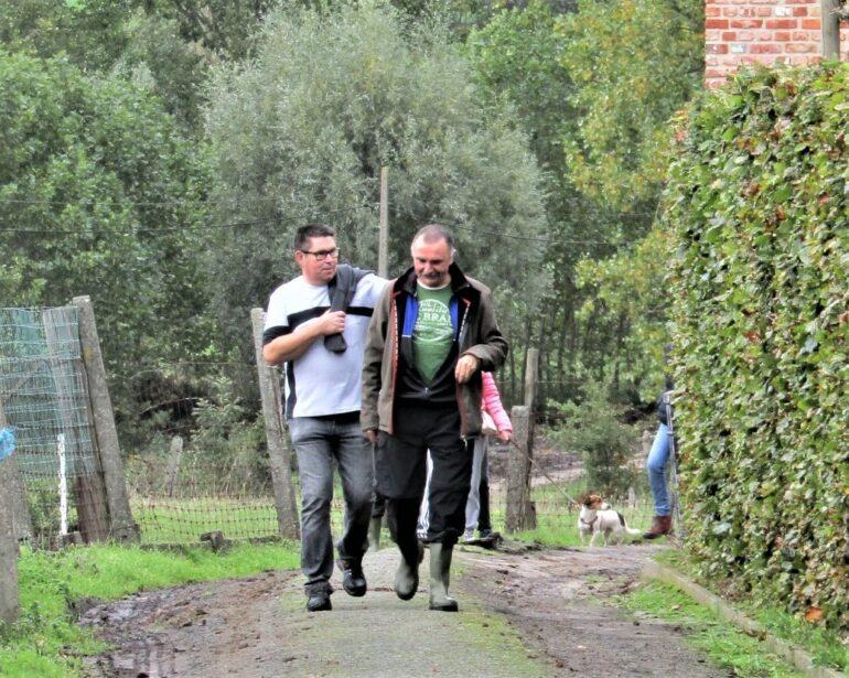 Twee wandelaars van CSC Lierde.
