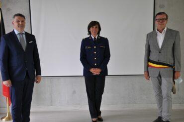 Politiechef met burgemeester Soetens en De Padt