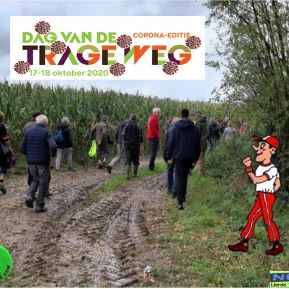 Groep CSC Lierde wandelaars op Trage Wegen.