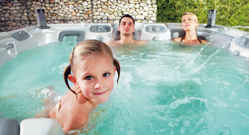 Promote less screen time with a family hot tub soak!