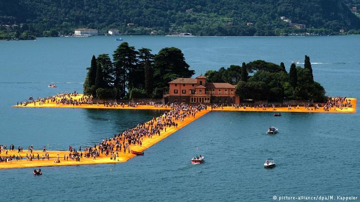 walking on water aerial