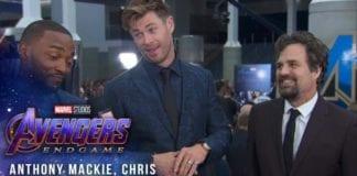 Mark Ruffalo, Chris Hemsworth & Anthony Mackie Try Not to Spoil Avengers: Endgame at the Red Carpet