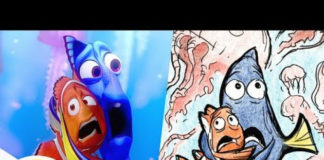 Marlin and Dory in the Jellyfish Forest from Finding Nemo | Pixar Side by Side