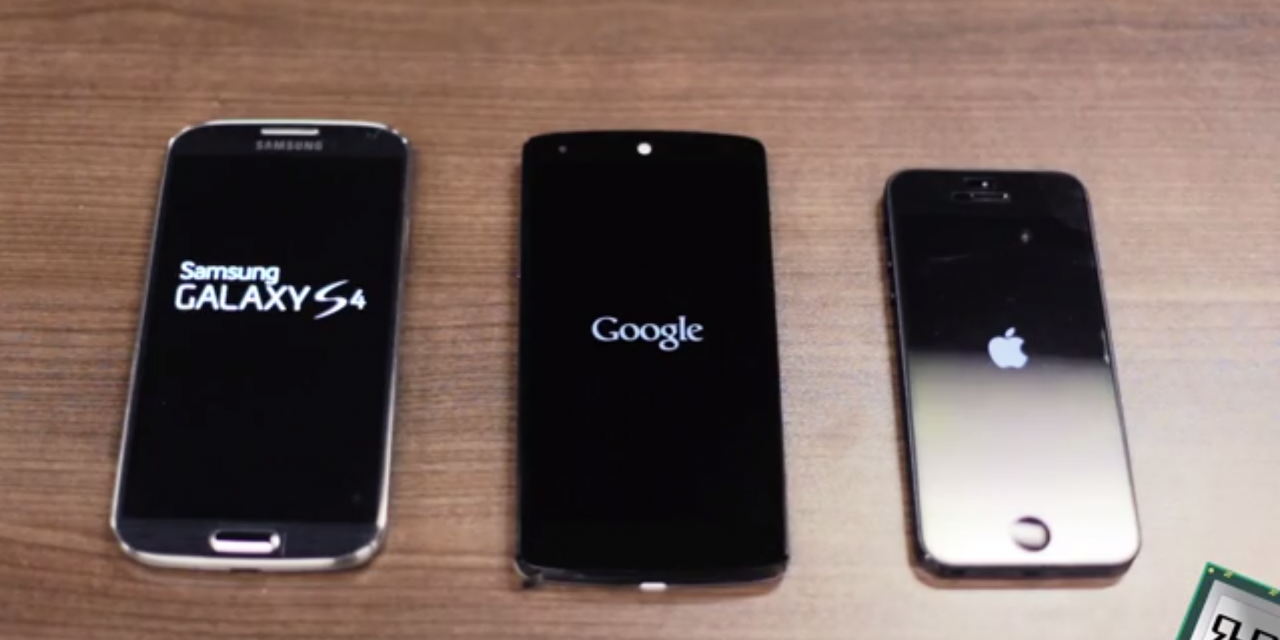Speed Test Nexus 5 vs. Galaxy S4 vs. Iphone 5