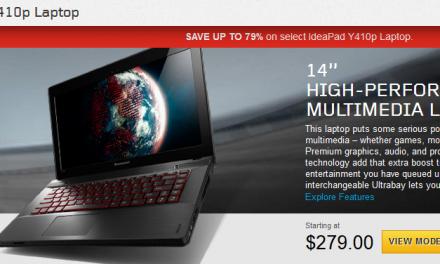 Lenovo Y410p Pricing Error