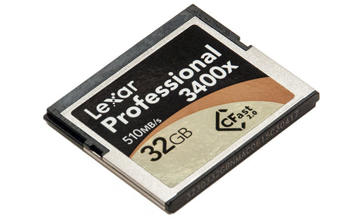 Lexar 3400x Cfast 2.0