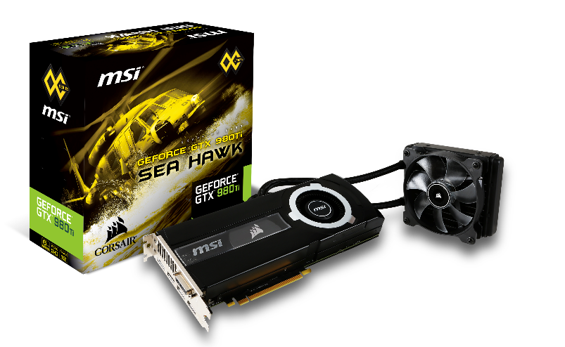 MSI and Corsair launch GTX980Ti SEA HAWK graphics card