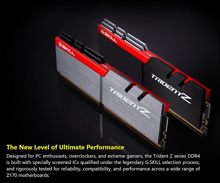 spec2 - Gskill TridentZ DDR4-3400 16GB Kit