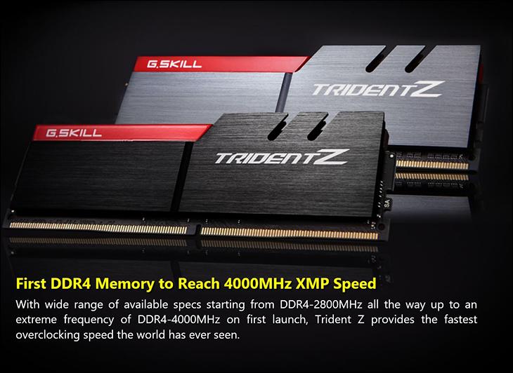 spec3 - Gskill TridentZ DDR4-3400 16GB Kit