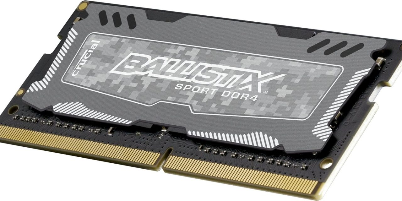 Crucial Announces Ballistix Sport LT DDR4 SODIMMs