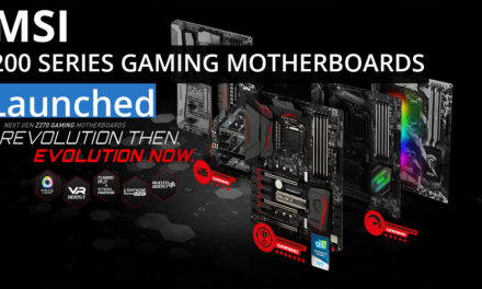 MSI ENTERS THE ARENA WITH NEW 200 SERIES GAMING MOTHERBOARDS
