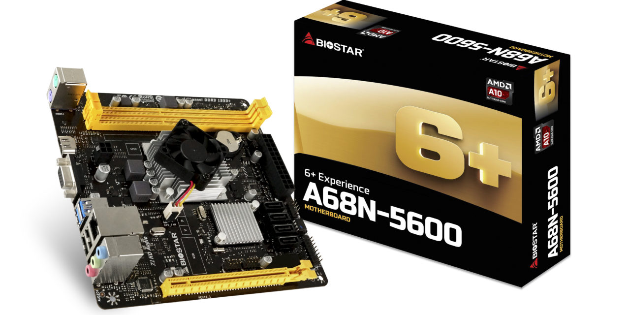 BIOSTAR Announces A68N-5600 SoC Motherboard for SFF and HTPCs
