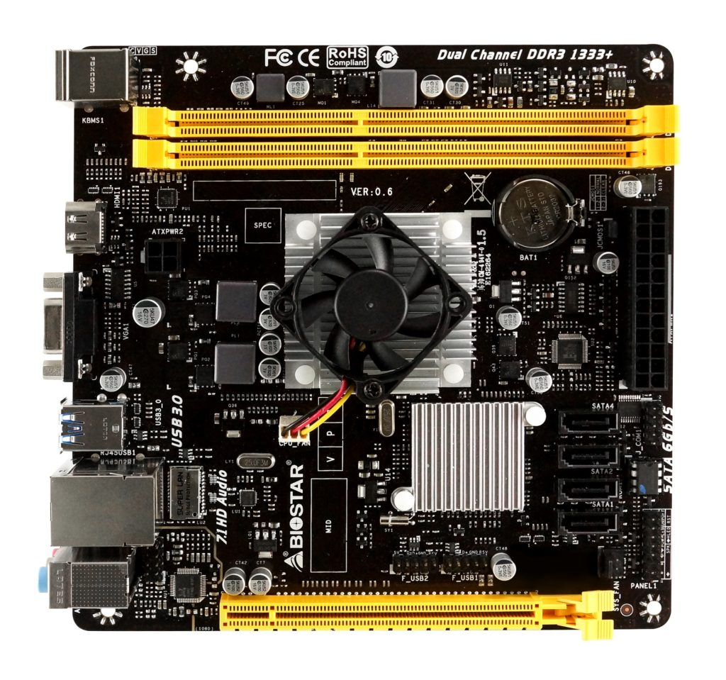 A68N 5600 TOP small 1024x959 - BIOSTAR Announces A68N-5600 SoC Motherboard for SFF and HTPCs