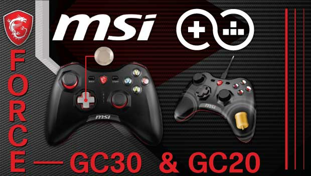 MSI Force GC30 and GC20 New Wireless and Wired Game Controllers