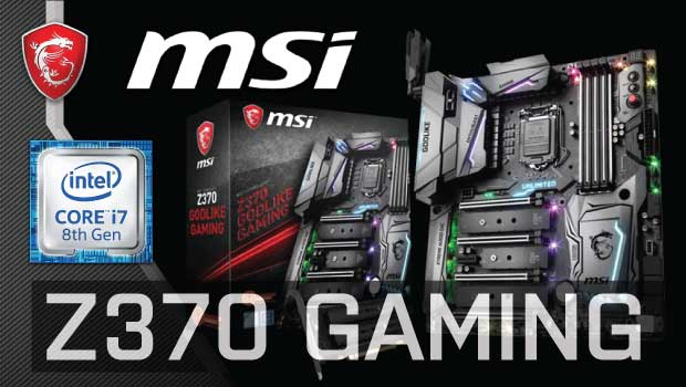 MSI launches Z370 Gaming Motherboards