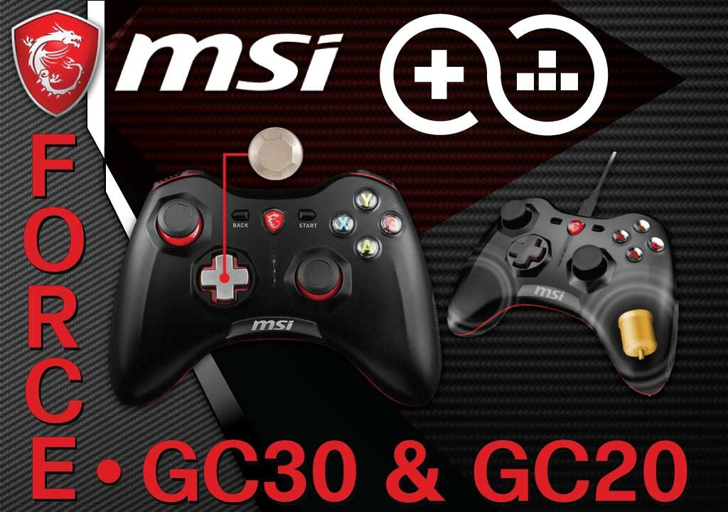 MSIcontrollers 1 1024x720 - MSI Force GC30 and GC20 New Wireless and Wired Game Controllers