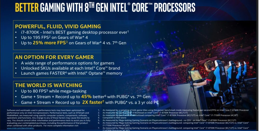 gaming benchmarks 100736788 orig 1024x520 - Intel's New 8th Gen Coffee Lake CPUs
