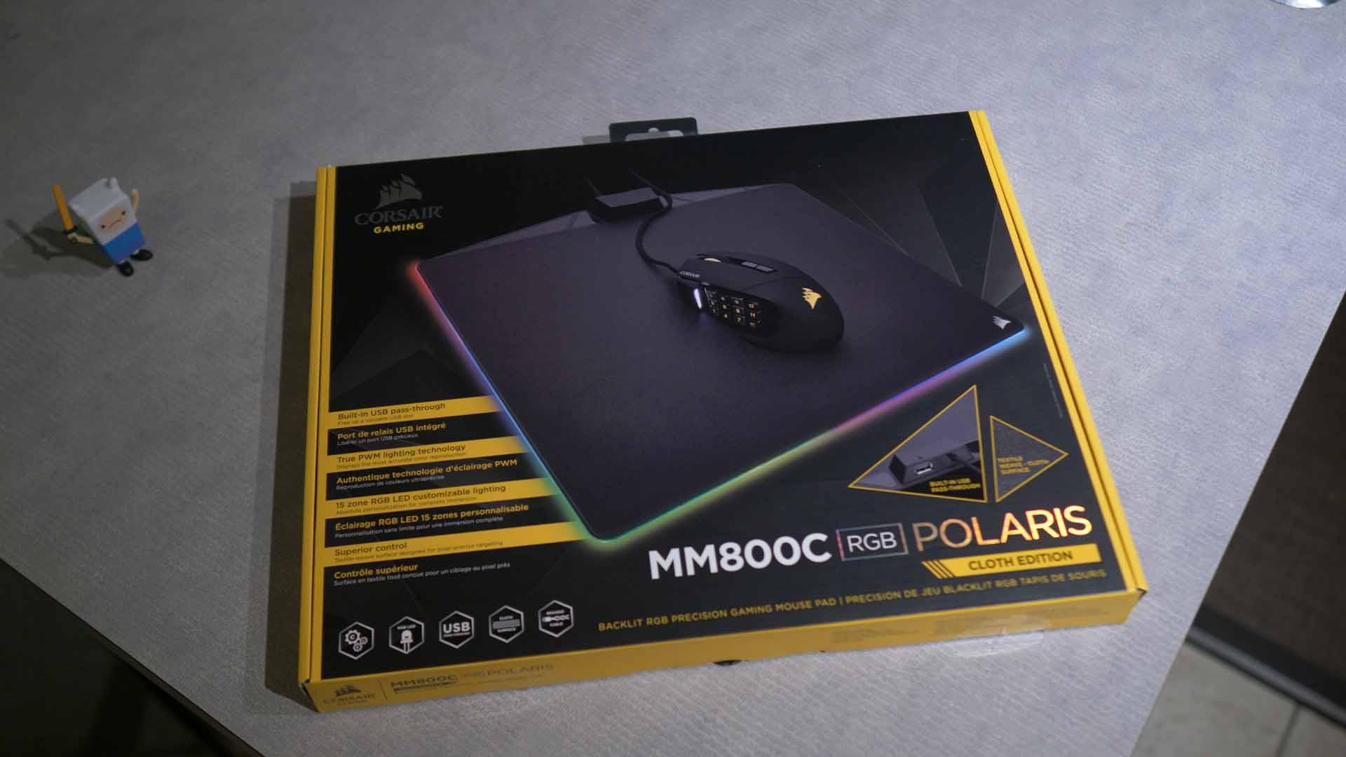 Unboxing MM800C - Corsair MM800C Mousepad Review - RGB Overload?