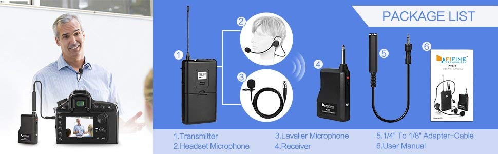 63a91428 fdbb 499d 8bd1 ed1ae6f8a6cb. CR00970300 PT0 SX970   - Fifine Wireless Microphone System K037B Review
