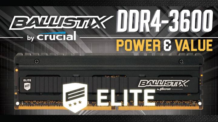 Ballistix Elite DDR4-3600 Review