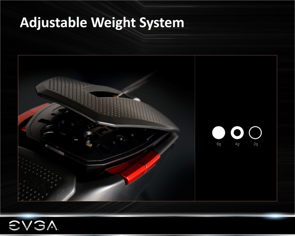 adjustable weight 1024x819 - EVGA TORQ X10 Carbon Review