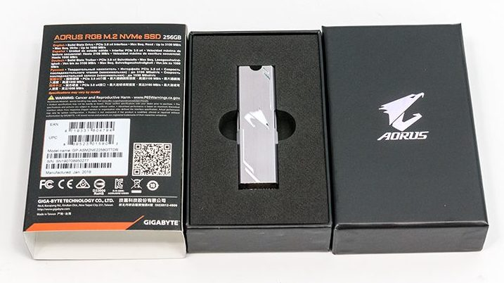 Gigabyte Aorus RGB NVMe 256GB M.2 Review