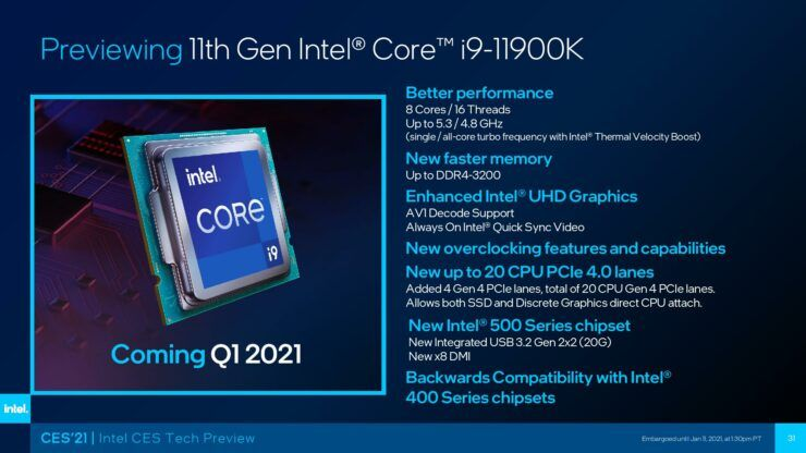 CES2021 IntelTechPreview Final page 031 740x416 1 - Intel's New 11th Gen i9-11900k