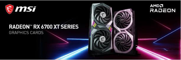 1 - MSI unveils custom Radeon RX 6700 XT graphics cards