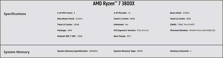 spec2 - AMD Ryzen 7 3800x Review