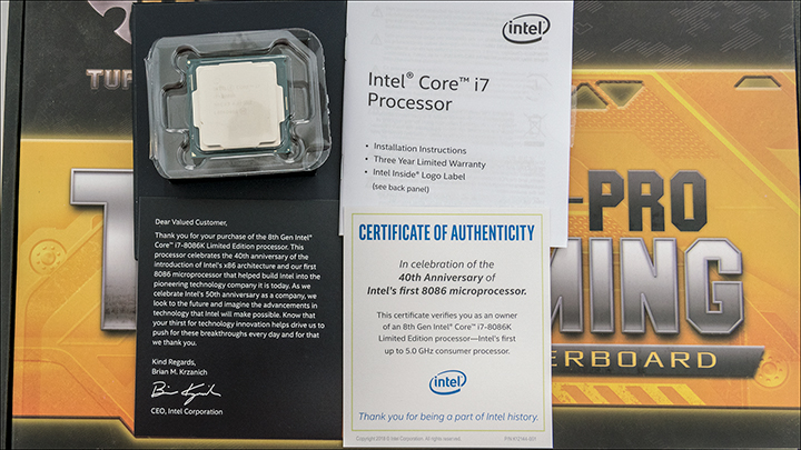 Intel i7 8086K int4 - Intel Limited Edition i7 8086K: Better performance but not that much better