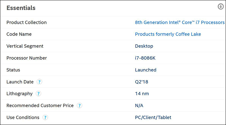 spec1 - Intel Limited Edition i7 8086K: Better performance but not that much better