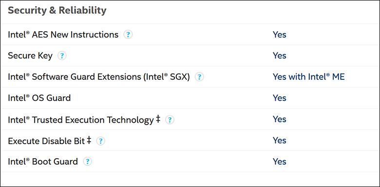 Intel i9 10900K spec5 - Intel Core i9-10900K Review