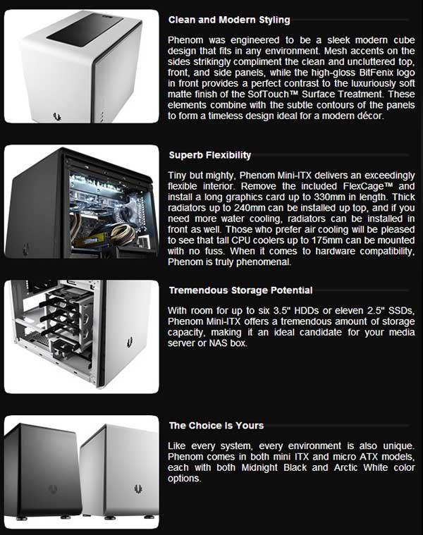 spec1 - BitFenix Phenom Case Review