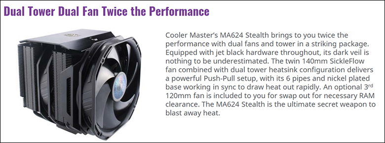 spec1 - Cooler Master MA624 Stealth Review