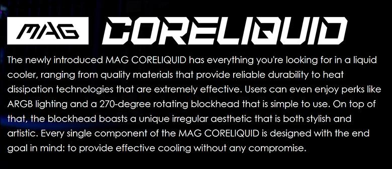MSI CoreLiquid 360R spec1 - MSI MAG CoreLiquid 360R Review