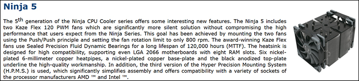 spec1 - Scythe Ninja 5 Review