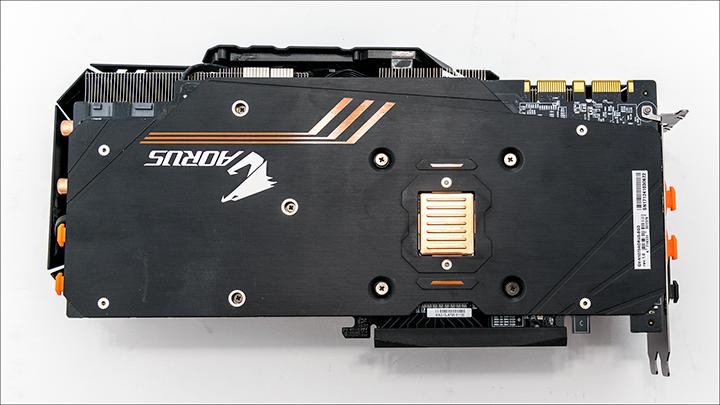 Gigabyte AORUS GTX 1070 back - Gigabyte AORUS GTX 1070: Big card with big performance