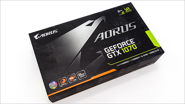 Gigabyte AORUS GTX 1070 box - Gigabyte AORUS GTX 1070: Big card with big performance