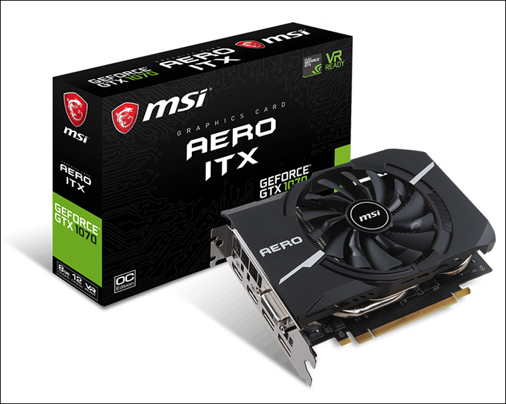 int - MSI Aero ITX OC GTX 1070: It's no Zotac Mini