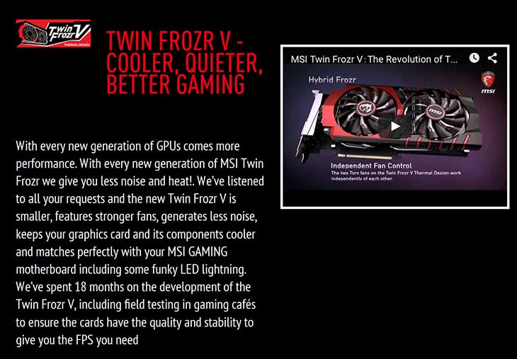 spec3 - MSI GTX 960 Gaming 2G